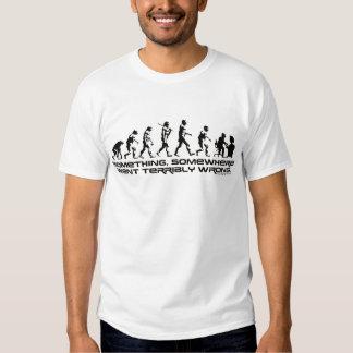 Något gick någonstans hemskt Wrong. T-shirt