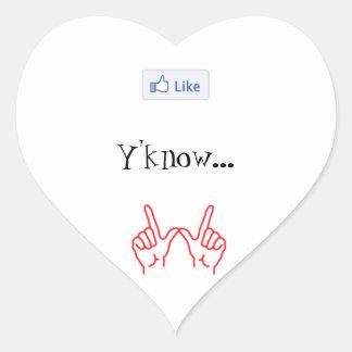 Något liknande Y'know… spelar ingen roll. - Hjärtformat Klistermärke