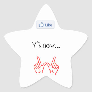 Något liknande Y'know… spelar ingen roll. - Stjärnformat Klistermärke