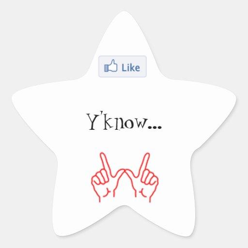Något liknande Y'know… spelar ingen roll. - Stjärnformade Klistermärken