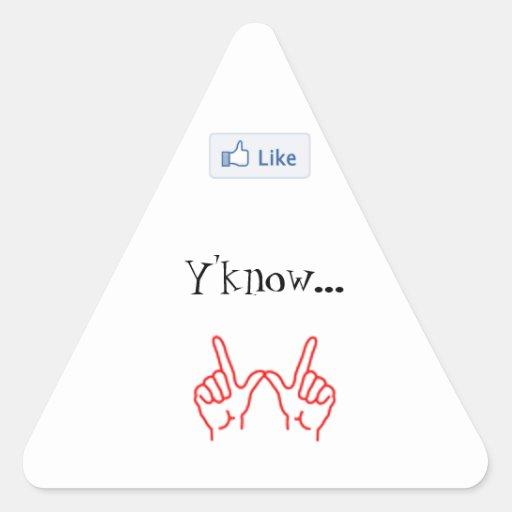 Något liknande Y'know… spelar ingen roll. - Triang Triangle Sticker