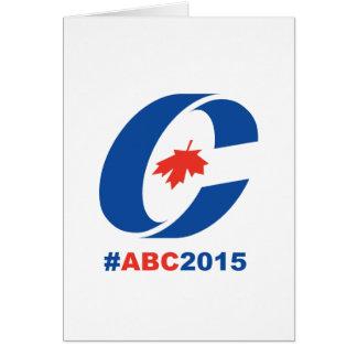 Något men konservativ 2015 hälsningskort