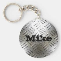 Något namn på metalldiamanten pläterar Keychain Nyckel Ring