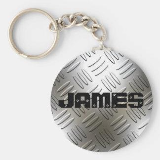 Något namn på metalldiamanten pläterar Keychain Rund Nyckelring