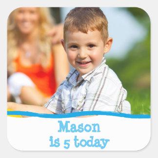 Något personifierat foto för ålder födelsedag fyrkantigt klistermärke