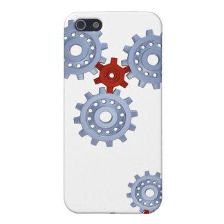 Något silver utrustar med ett lite rött iPhone 5 skydd