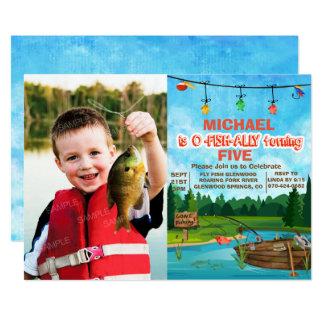 NÅGRA ÅLDRAS - borta fiskefödelsedaginbjudan 12,7 X 17,8 Cm Inbjudningskort