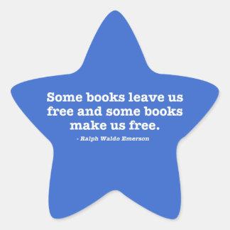 Några bokar gör oss fria stjärnformat klistermärke