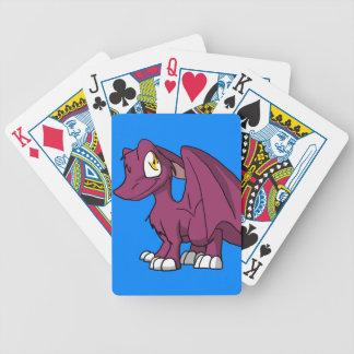 Några färgar SD-hårigdraken med blåttbakgrund Spelkort