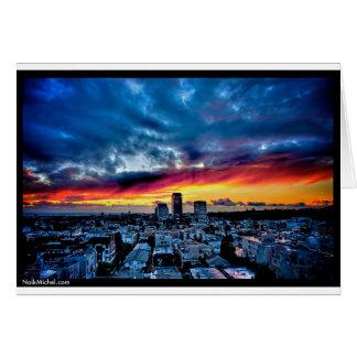 Naik Michel fotografi - solnedgång över Santa Hälsningskort