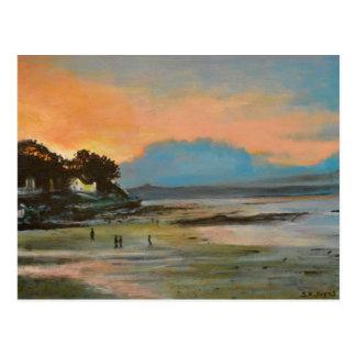 Nairn strand på solnedgången vykort