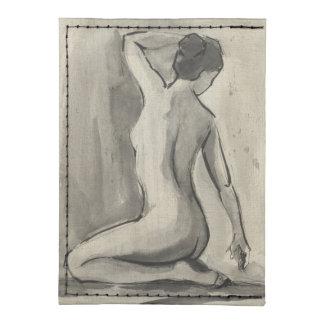 Nakenstudien skissar av kvinnligt förkroppsligar