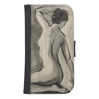 Nakenstudien skissar av kvinnligt förkroppsligar galaxy s4 plånböcker