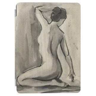 Nakenstudien skissar av kvinnligt förkroppsligar iPad air skydd