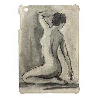 Nakenstudien skissar av kvinnligt förkroppsligar iPad mini mobil skydd
