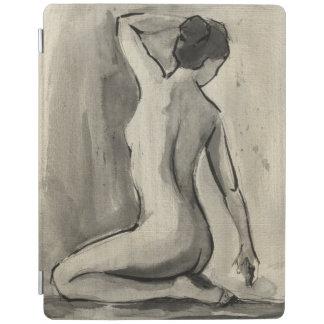 Nakenstudien skissar av kvinnligt förkroppsligar iPad skydd