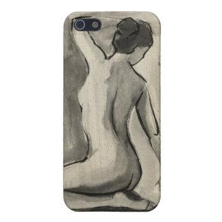 Nakenstudien skissar av kvinnligt förkroppsligar iPhone 5 fodral