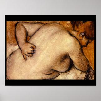 Nakenstudien som skrapar henne Back_Studies av, Poster