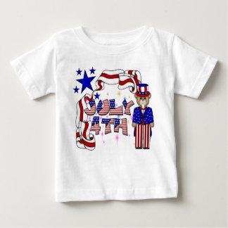 Nallar 4th av den Juli raglanen Tee Shirt