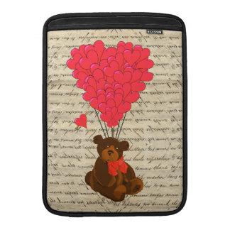 Nalle och hjärta sleeve för MacBook air