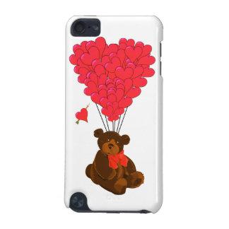 Nalle- och hjärtaballonger iPod touch 5G fodral
