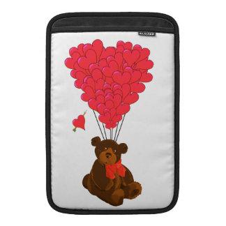 Nalle- och hjärtaballonger sleeve för MacBook air