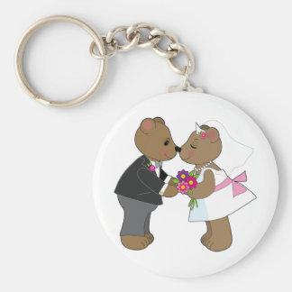Nallebröllop Rund Nyckelring