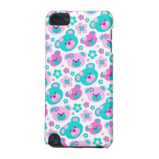 Nallen blommar den rosa aquaipod fodral iPod touch 5G fodral