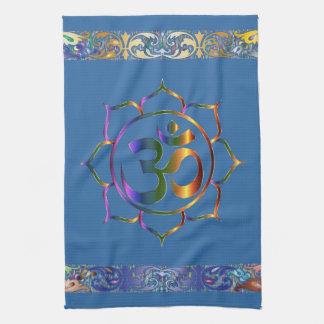 Namaste Aum Om lotusblomma med Kökshandduk