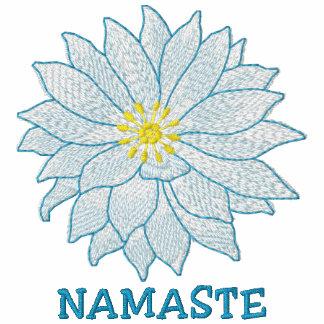 Namaste broderade kvinna T-tröja
