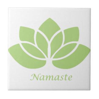 Namaste lotusblomma kakelplatta