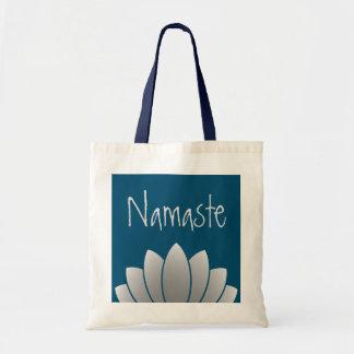 Namaste modern lotusblommablommigt budget tygkasse
