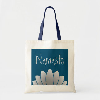Namaste modern lotusblommablommigt tygkasse