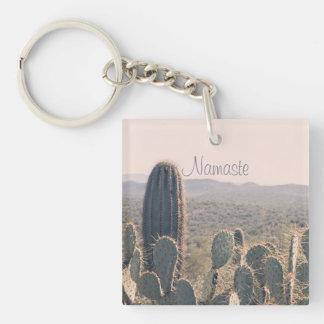 Namaste - nyckelring för akryl för Arizona kaktus
