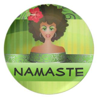 Namaste pläterar tallrik