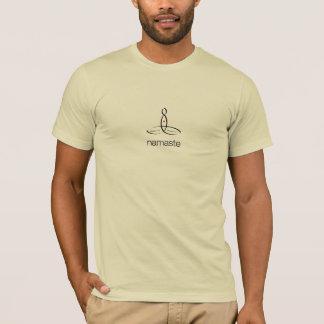 Namaste - svart stamgäststil t shirts