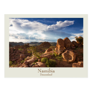 Namibia - Damaraland vykort med text
