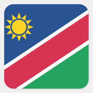 Namibia Fyrkantigt Klistermärke