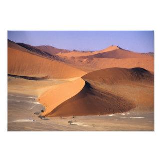 Namibia: Sossuvlei dyner, scenic. antenn Fototryck