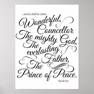 Namn av den Jesus Kristus Poster