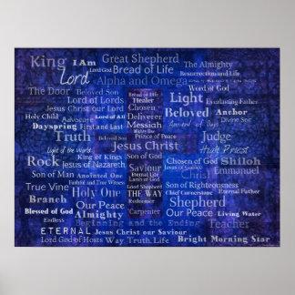 Namn av Jesus - samtida kristen konst Poster