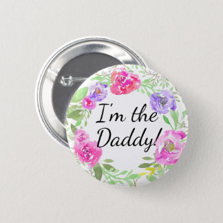 Namn bricka för pappa för pappa för standard knapp rund 5.7 cm