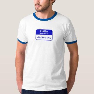 Namn brickaT-tröja, tillfogar namn här Tshirts