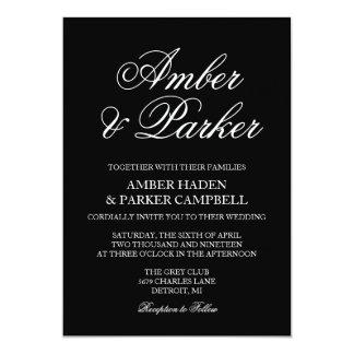 Namn för bröllopinbjudan | 12,7 x 17,8 cm inbjudningskort