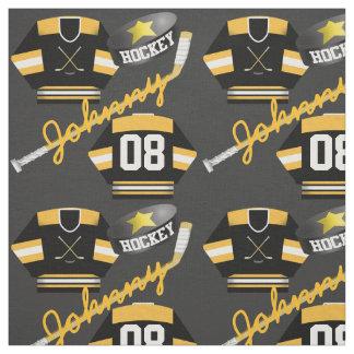 Namn för för den hockeyspelareJersey pucken och Tyg