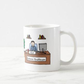 Namn för företag för w för personligtecknadmugg kaffemugg