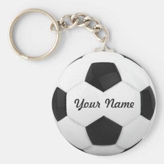Namn för fotbollbollpersonlig rund nyckelring