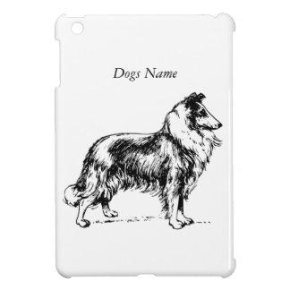 Namn för hund för Collieavelteckning beställnings- iPad Mini Mobil Fodral