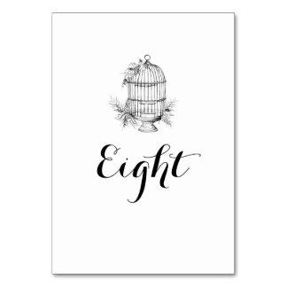 Namn för klassikerfågelburbord/numrerar bordkortet