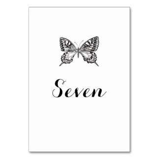 Namn för klassikerfjärilsbord/numrerar bordkortet